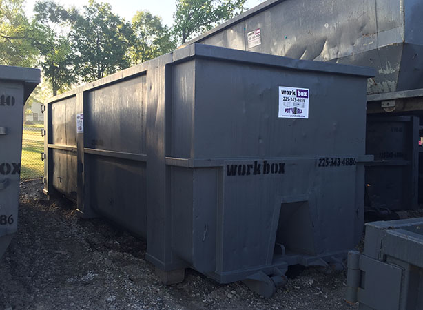 40 yard dumpster, workbox, Louisiana